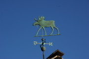 Weathervane Prints - Weathervane Moose Print by Cynthia  Cox Cottam