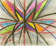 Burst Pastels Prints - Web Abstraction Print by Cat and Art with a Heart In Healthcare