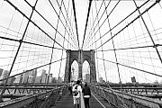 Manhattan Bridge Photos - Web of Love by Andrew Serff