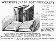 Dictionary Prints - Websters Dictionary Print by Granger