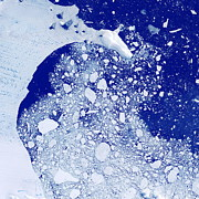 Sea Ice Prints - Weddell Sea, Antarctica Print by Planetobserver