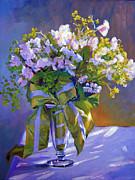 Wedding Bouquet Print by David Lloyd Glover