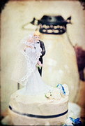 Old Objects Prints - Wedding Cake Couple Print by Stephanie Frey