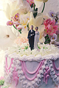 Groom Photo Framed Prints - Wedding cake Framed Print by Garry Gay