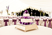Dining Hall Prints - Wedding Cake Print by Tom Gowanlock