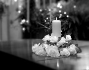 Candlelight Prints - Wedding Candle Print by Tom Mc Nemar