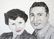 Things Drawings - Wedding Day 1954 by Mayhem Mediums