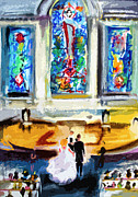 Wedding Day At Second Presbyterian Church Charleston Sc Print by Ginette Fine Art LLC Ginette Callaway