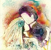 Bride And Groom Paintings - Wedding Day by Deborah Nell