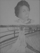Dock Drawings - Wedding Dress by Milton  Gore
