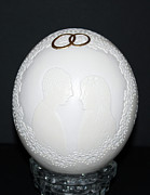Wedding Reliefs - Wedding egg  by Nijole Byer
