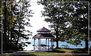 Beaches. Picnic Prints - Wedding Gazebo by Lake Erie at Evangola State Park Print by Rose Santuci-Sofranko