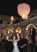 Lantern Digital Art Metal Prints - Wedding Globos Metal Print by David April