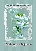 Wishes Posters - Wedding Happiness Greeting Card - Lily of the Valley Flowers Poster by Mother Nature