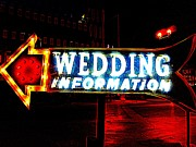 Information Prints - Wedding Information Print by Randall Weidner