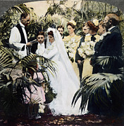 Vow Framed Prints - Wedding Party, 1900 Framed Print by Granger