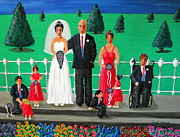 Bridesmaid Paintings - Wedding Party by Sandy Wager
