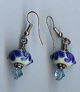 Earrings Jewelry - Wedgewood by Linda Slasberg