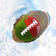 Athlete Digital Art Prints - Wee Football Print by Nikki Marie Smith
