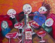 Red Wine Pastels - Wee Fun Booze by Tracey Levine