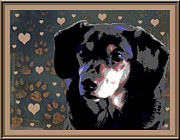 Dachshund Puppy Digital Art Framed Prints - Wee With Love Framed Print by One Rude Dawg Orcutt