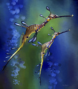 Sea Dragon Framed Prints - Weedy Sea Dragon Framed Print by Thanh Thuy Nguyen