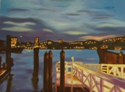 New Jersey Painting Originals - Weehawken from Pier 78 by Milagros Palmieri