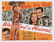 1940s Poster Art Photos - Week-end In Havana, Cesar Romero by Everett