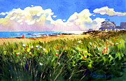Sand Dunes Paintings - Weekapaug Beach by Lee Klingenberg