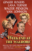 Ginger Rogers Framed Prints - Weekend At The Waldorf, Ginger Rogers Framed Print by Everett