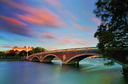 Charles River Art - Weeks Bridge by Rick Berk