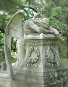 Angel Photography Prints - Weeping Angel Front View Print by Cindy Hogan