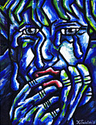 Suffering Painting Framed Prints - Weeping Child Framed Print by Kamil Swiatek
