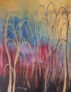 Fushia Framed Prints - Weeping Willow Framed Print by Janel Bragg