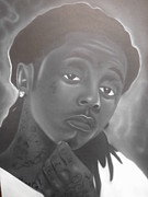 Lil Wayne Paintings - Weezy by Charles Thomas