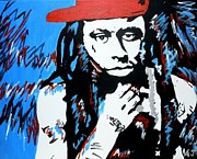 Lil Wayne Painting Prints - Weezy F. Baby Print by Austin James
