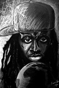 Lil Wayne Drawings - Weezy F. Baby by Mark Baines