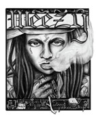 Lil Wayne Drawings Prints - Weezy Print by Michelle Beaulieu