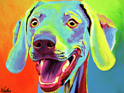 Whimsical Dog Breed Art Framed Prints - Weimaraner - Taffy Framed Print by Alicia VanNoy Call