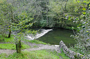 Waterway Prints - Weir Below Lovers Leap - Dovedale Print by Rod Johnson