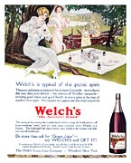Welch Framed Prints - Welchs Grape Juice, 1914 Framed Print by Granger
