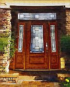 Painted Door Prints - Welcome Print by Deborah MacQuarrie