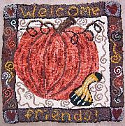 Primitive Tapestries - Textiles - Welcome friends by Maureen McIlwain