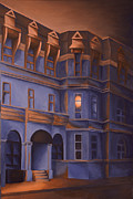 Quebec Paintings - Welcome Home - A Light in the Window by Duane Gordon