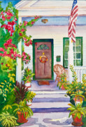 Patriotic Painting Metal Prints - Welcome Home Metal Print by Michelle Wiarda