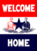 First World War Prints - Welcome Home Military Print by War Is Hell Store