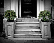 Front Steps Posters - Welcome Steps Poster by Perry Webster