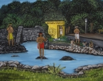 Puerto Rico Paintings - Welcome to Aguadilla by Gloria E Barreto-Rodriguez