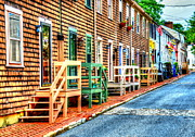 Townhouses Prints - Welcome to Annapolis Print by Debbi Granruth