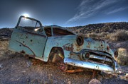 Rusted Cars Art - Welcome To Death Valley by Bob Christopher